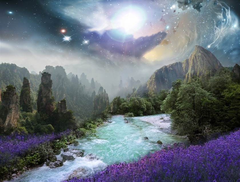 Beautiful Fantasy Image - used as book on website